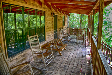 Cedar Ridge Cabin - Okatoma Creek - Creek Front Porch